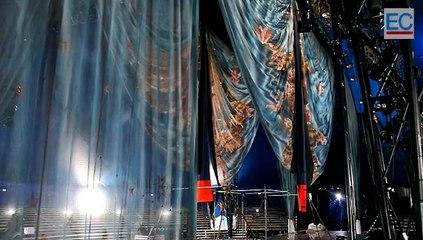 Técnicos del Circo del Sol recorrieron la carpa en Quito