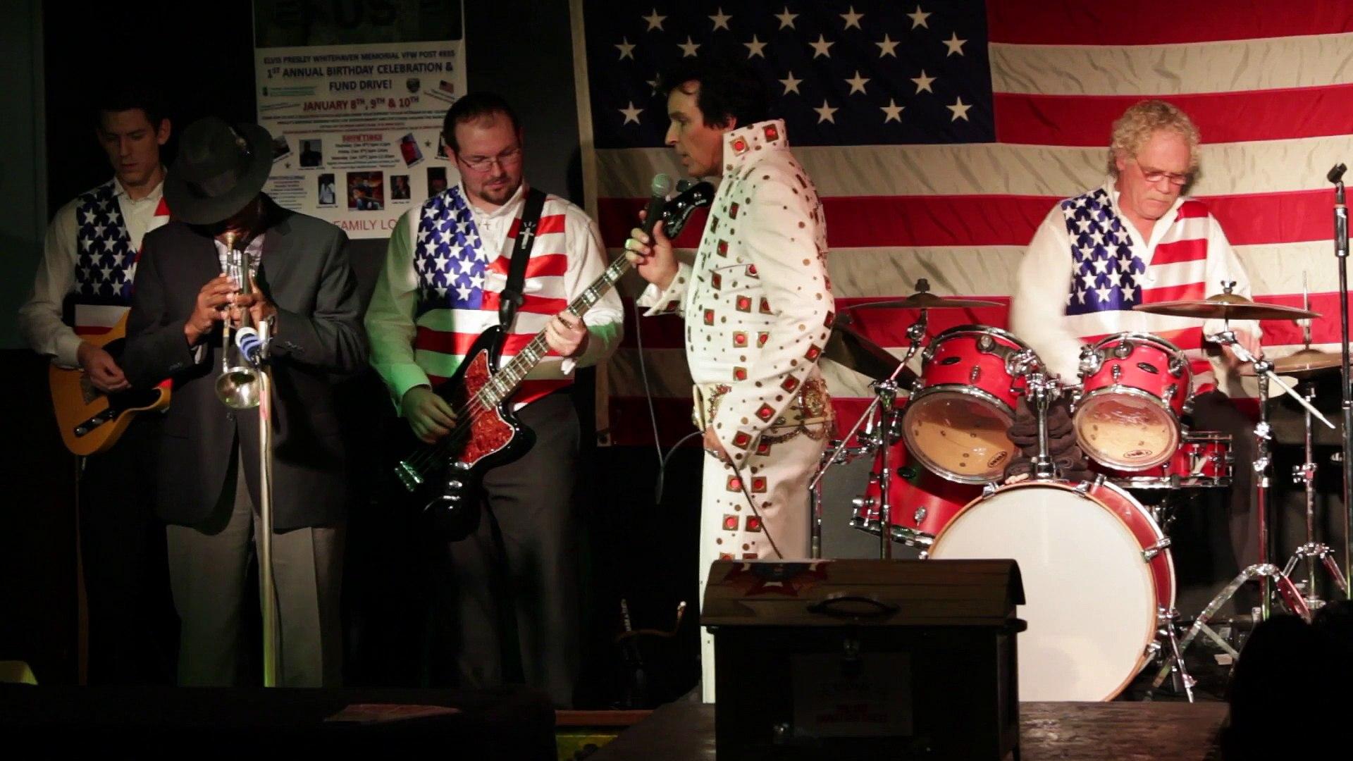 Todd Herendeen and Ben Cauley perform 'All Shook Up' Elvis Presley Memorial VFW 2015