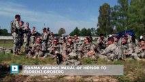 Obama awards Medal of Honor to Florent Groberg