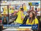 Hinchas apoyaron a la Selección en varios lugares de Quito