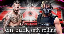 WWE Raw 2015 | CM Punk VS Seth Rollins - Full Match  HD Complete Video