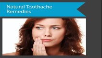 Natural Toothache Remedies VT