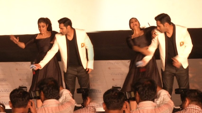 VIDEO OMG | Kajol Falls Badly On Stage, Varun Dhawan Comes To Rescue