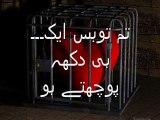 Heart touching Sad Urdu Poetry ♥`·.¸¸.·´♥TuM To Bus AiK DuKh PoChtey Ho♥`·.¸¸.·´♥