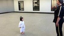3 Year Old Taekwondo White Belt Reciting Student Creed