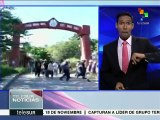 México: marchan normalistas de Ayotzinapa contra represión policial