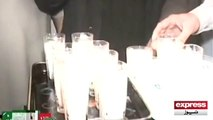 Milk drinking competition between Candidates of LG Elections