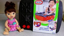 Little Tikes Cook N Store Play Kitchen With Baby Alive Doll & Play-Doh Food DisneyCarToys