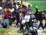 Estudiantes participaron en simulacro de erupción
