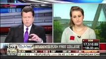Neil Cavuto embarrasses student who wants free college has no idea how to pay for it