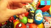NEW Huge 101 Surprise Egg Opening Kinder Surprise Elmo Disney Pixar Cars Mickey Minnie Mou