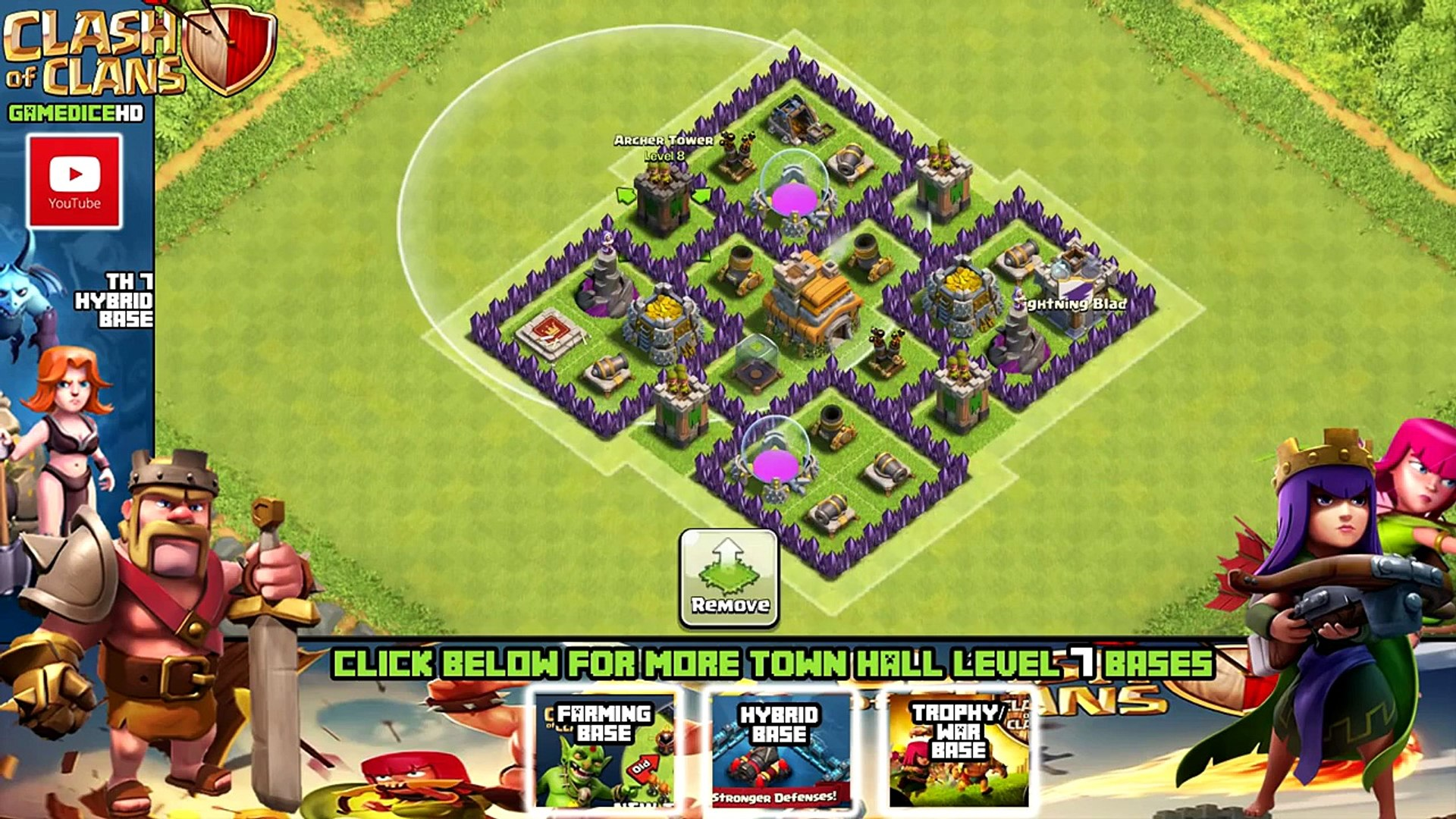 Clash Of Clans Town Hall 7 Defense Coc Th7 Best Hybrid Base Layout Defense Strategy Video Dailymotion