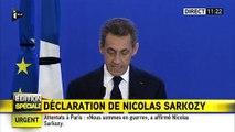 Attentats à Paris : Nicolas Sarkozy fait observer une minute de silence Minute de silence chez Les Républicains