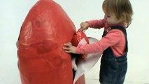 toy Peppa Pig Huge Giant surprise egg unboxing toys Gigantes juguetes unboxing huevo sorpresa