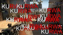 CS:GO FUNNY MOMENTS - GABEN GHOST , CRAZY PRO SCOUT FRAGS ,KURWA (Funny Moments)