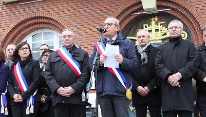 Marly  : 350 personnes rassemblées en hommage aux victimes des attentats