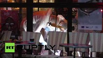 France Forestic experts inspect suicide bomber in an attacked cafe in Paris