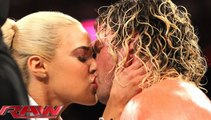 WWE RAW 2015 | Lana kisses Dolph Ziggler | Wrestling Match Raw,  2015