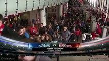 Hommage à la france pendant ce match de Hockey au canada. Hymne chanté par des américains et des canadiens