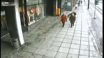 LiveLeak Nurse Lets Handicapped Man in Wheelchair Go Downhill
