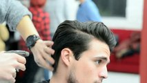 Mens Hair Modern Slick Back Faded Undercut Haircut And Style Video