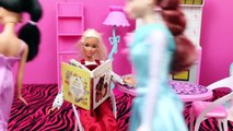 Barbie ❤ Pregnant with Prince Hans, Brunette Elsa and Jasmine Pregnancy Announcements