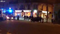 Paris Attack Video Between Police & Terrorists Outside Bataclan, Paris France 13.11.2015