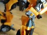 Transformer ROTF Bumblebee & sideswipe legends class stop motion
