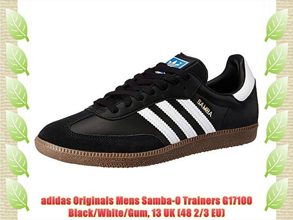 adidas Originals Mens Samba 0 Trainers G17100 BlackWhite