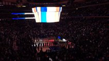 NBA :  la Marseillaise au Madison Square Garden (New York)