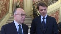 Déclarations de Bernard Cazeneuve, ministre de l'Intérieur et de François Baroin, président de l'Association des maires de France