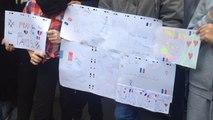 Attentats de Paris : les élèves du collège Laplace solidaires