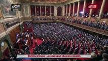 Congrès de Versailles - François Hollande et l'ensemble des élus du Congrès entonnent la Marseillaise