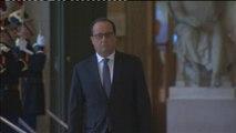 L'arrivée de François Hollande au Congrès de Versailles