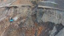 Imagens da barragem de Germano gravadas dois dias após rompimento da barragem do Fundão