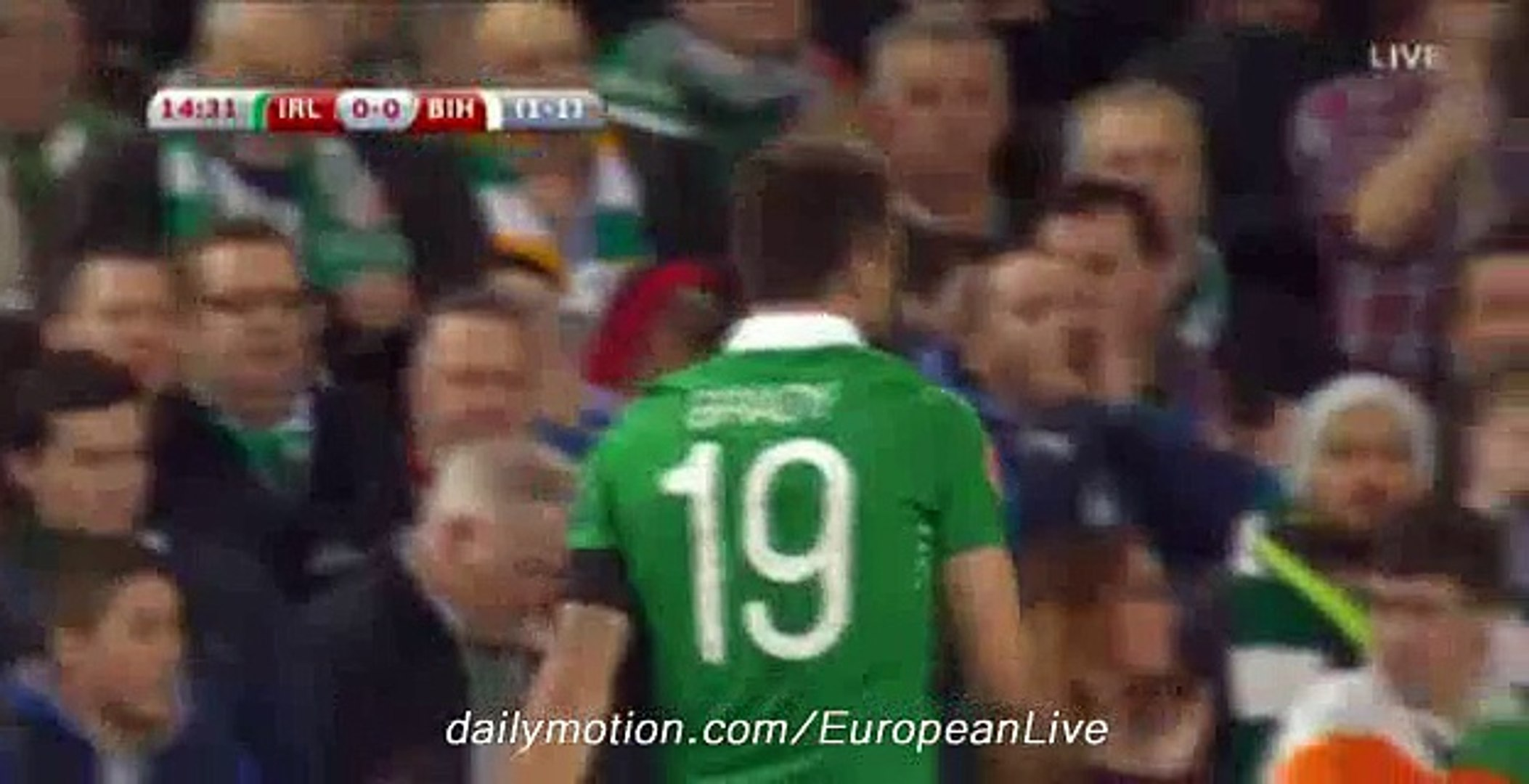 Bosnia Fantastic Defence - Ireland v. Bosnia - Euro 2016 - 16-11-2015