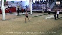 Quarts de finale, tir rapide en double, Sport Boules, Euro Féminin, Saluzzo 2015