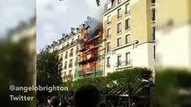 Incendie à Levallois Perret | Explosion Forte Images Amateurs Levallois