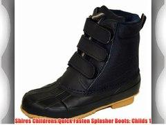 Shires Childrens Quick Fasten Splasher Boots Childs 1