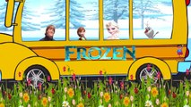 Wheels On The Bus Go Round And Round Hulk Spiderman Frozen Kids Songs | Nursery Rhymes fo