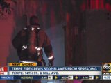 Tempe crews stop flames from spreading