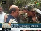 Colombia: ELN libera a dos soldados retenidos en Boyacá