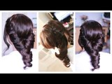 Easy Elegant Laced Folded Twisted Hairstyle for Prom, Fall Wedding and Special Occasions-Beautyklove