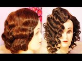 NO Heat Curls Waves- Retro-Flapper Finger Waves for Short Hair (Inspired) -Beautyklove
