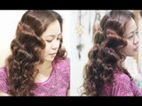No Heat Foil Waves For Thick Medium Length Hair- Heatless Pinup-Finger Waves(Inspired)