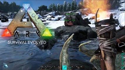 Lets Play ARK Survival Evolved #006 Das SchneeBiom Direwolf tamen [Deutsch] ARK Survival