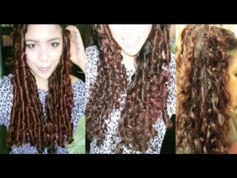 No Heat Straw Curls 1 Method Heatless Big Curls To Everday Waves Long Lasting Curls