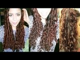 No heat Straw Curls 1 method- Heatless Big Curls to Everday Waves- Long Lasting Curls