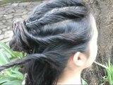 Twisted hairbun tutorial/ elegant prom updo/easy wedding hairstyle tutorial