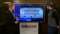 Roger Federer Post Match Analysis at Sky Sports Studio (17-11-15)